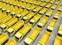 Truck endless fleet concept Royalty Free Stock Photo