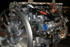 Truck engine. Diesel powered Stock Photography