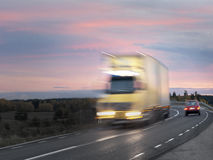 Truck in evening Royalty Free Stock Photos