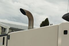 Truck exhaust pipe. Detail of truck exhaust pipe Royalty Free Stock Image
