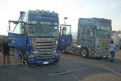 Truck exhibition Stock Image