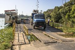 Free Truck Exit Of Ferry Boat Stock Photography - 114638592