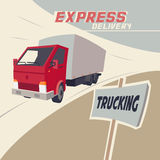 Truck express delivery Royalty Free Stock Photography