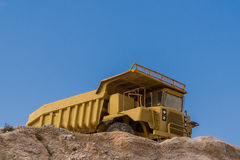 Truck for the extraction of marble, sand and other construction materials and minerals Stock Images