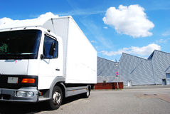 Truck and factory Royalty Free Stock Photography