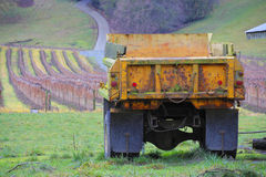 Truck and Farm Field Stock Photography