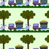 Truck fertilizer seamless background design Stock Photography