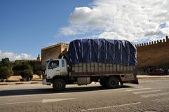 Truck in Fez, Morocco Stock Photo