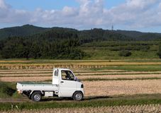 Truck in the field Stock Images