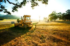 Truck in a Field. Truck parked in a field on a sunny summer day Royalty Free Stock Photo