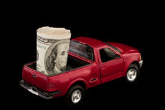 Truck Filled with Cash Stock Photography