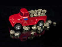 Truck filled with Fools Gold Stock Images
