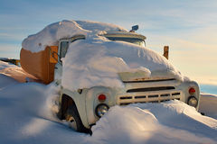 A truck filled with snow Royalty Free Stock Images