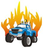 Truck on the fire Royalty Free Stock Photography