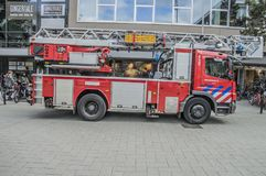 A Truck From The Fire Department Of Amsterdam The Netherlands. 2018 stock images
