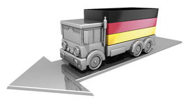 Truck flag Germany Stock Photo
