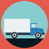 Truck Flat Vector Illustration Royalty Free Stock Images