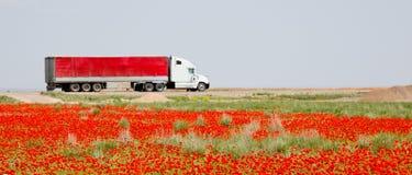 Truck&flowers Zdjęcie Stock