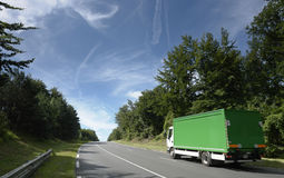 Truck in forest stock photography