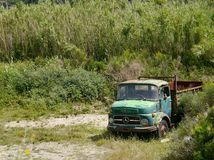 Truck found abandoned on small island Royalty Free Stock Photography