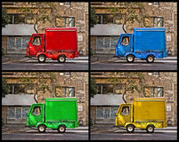 Truck in four colors Stock Photos