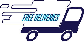 Truck - Free deliveries Stock Images