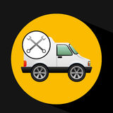 Truck free delivery icon tool Royalty Free Stock Photography