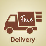 Truck free delivery. Royalty Free Stock Photo