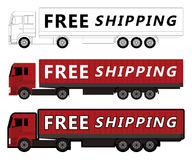 Truck free shipping Royalty Free Stock Photo