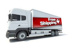 Truck, free shipping Royalty Free Stock Photography