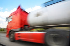 Truck on freeway Stock Images