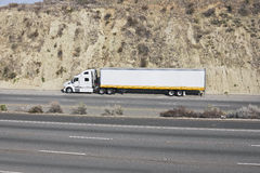 Truck on a Freeway. Truck sits off the shoulder on a freeway stock photography