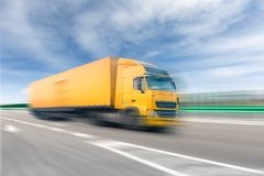 Truck on freeway Royalty Free Stock Photography