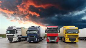 Truck - Freight transportation, Time lapse.  stock footage