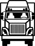 Truck Front black n white Stock Photography