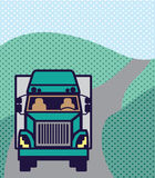 Truck front Color Vector Royalty Free Stock Images