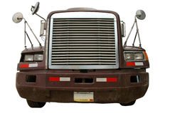 Truck front isolated on white royalty free stock photo