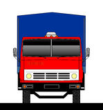 Truck front view. The view from the front of the truck. The Russian automotive industry. Vector graphics Royalty Free Stock Photo