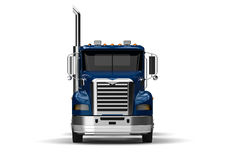 Truck front view. 3D render image representing a front view of a truck Stock Photo