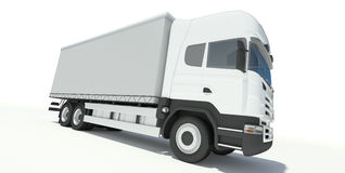 Truck front view illustration Royalty Free Stock Images