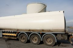Truck With Fuel Tank Stock Image