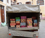 Truck full of Christmas presents Stock Photography