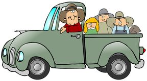 Truck Full Of Kids Royalty Free Stock Photography