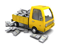 Truck full of money Royalty Free Stock Photos