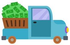 Truck full of money Stock Image