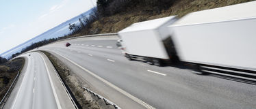 Truck at full speed Royalty Free Stock Photo