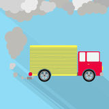 Truck fuming royalty free illustration