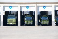 Truck garage Royalty Free Stock Photography