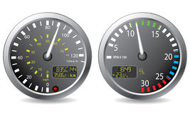 Truck gauges. While working needles Royalty Free Stock Photos