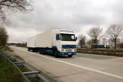 Truck on a german highway Royalty Free Stock Photo